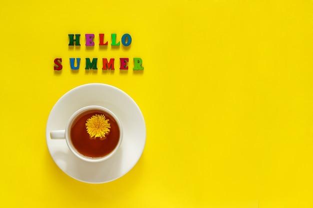 Schriftzug hallo sommer