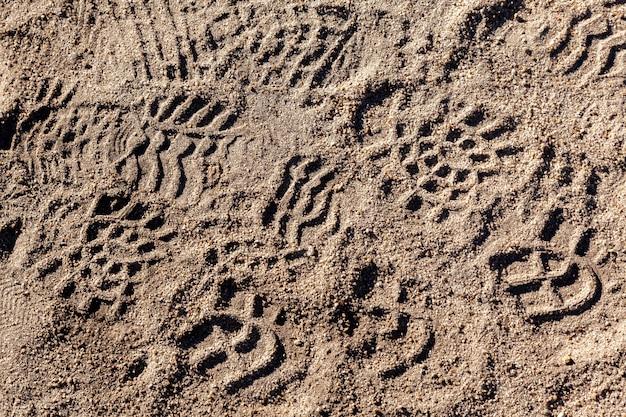 Schritte auf dem boden - muster menschen markierungen
