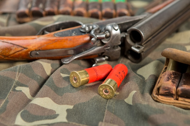 Schrotflinte, jagdpatronen, jagdmunition