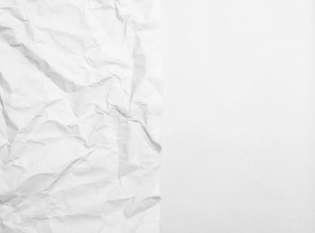 Schrott des weißbuches geknittert und glatt für hintergrund und beschaffenheit