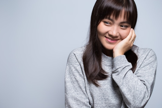 Schüchternes asiatisches frauenporträt