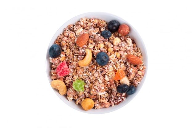 Schüssel müsli frühstück isoliert