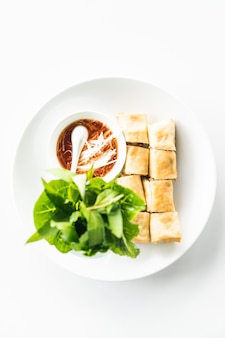 Schüssel sauce süß weiß knusprige