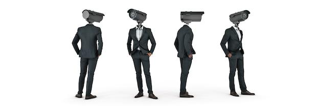 Schützen sie ihre privatsphäre mixed media 3d-rendering