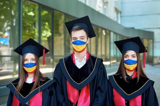 Schulabsolventen während der pandemie