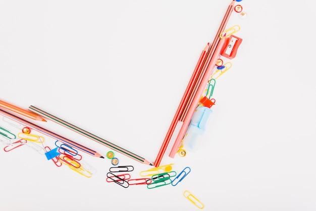 Schulbriefpapier in verschiedenen farben