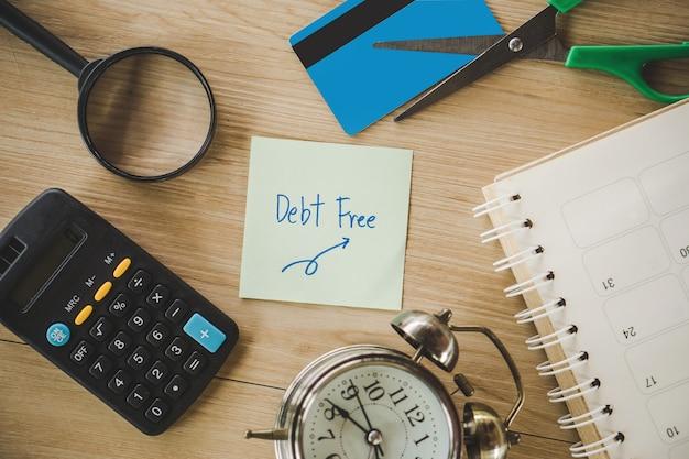Schulden frei von kreditkarte
