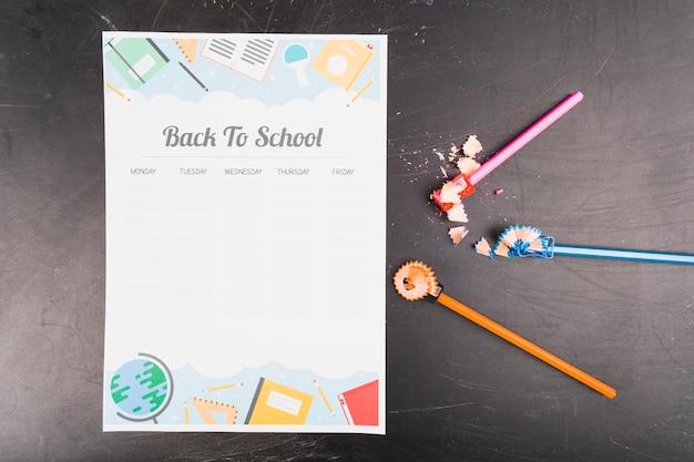 Schulform für den stundenplan