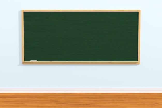 Schultafel im klassenzimmer. 3d-darstellung