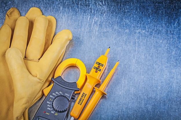 Schutzhandschuhe für elektrische tester des digitalen klemmmessgeräts