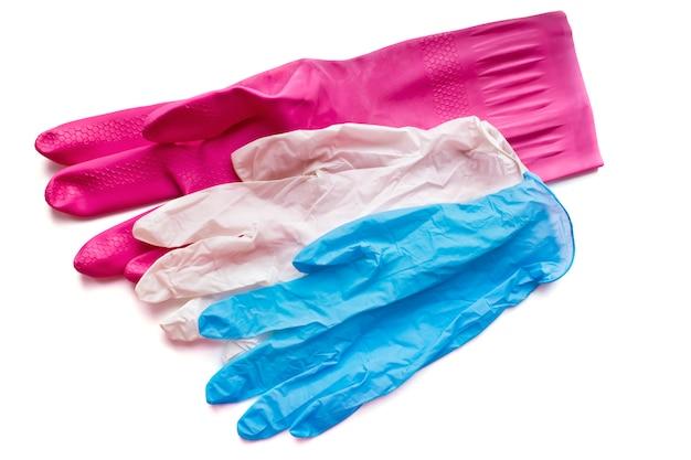 Schutzhandschuhe in verschiedenen stärken für haushalt, gartenarbeit, reinigung, medizin