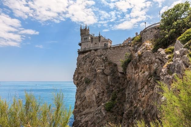 Schwalbennest, eine berühmte burg von jalta, krim.