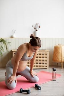 Schwangeres training zu hause