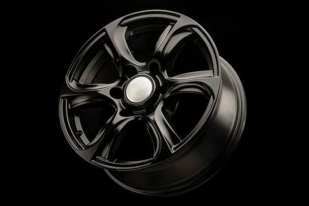 Schwarz matt leistungsstarke leichtmetallräder für fahrzeuge der geländewagenklasse.