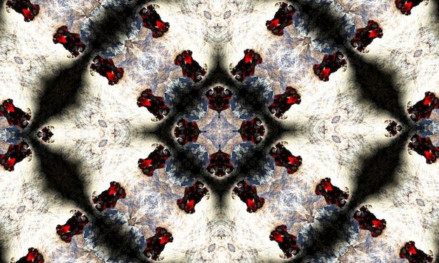 Schwarz-weiß-kaleidoskop. einfarbiges blumenmuster. kann für malbuchseitendesign, anti-stress-hobby für erwachsene verwendet werden. noir-thema, schwarz-weiß-abbildung.
