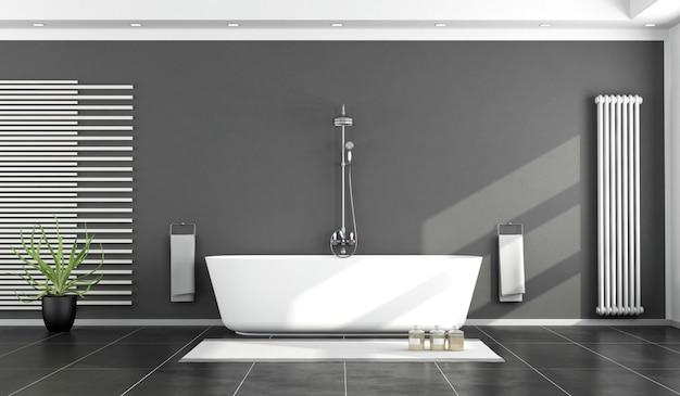 Schwarz-weiß modernes badezimmer