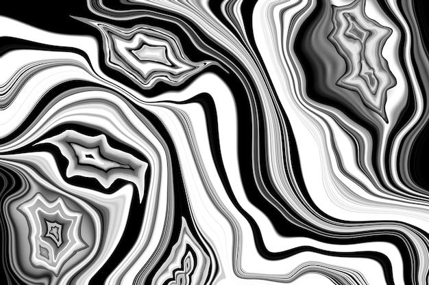 Schwarz-weißer marmor textur abstrakter achat welligkeit hintergrund