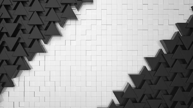 Schwarze dreieckhintergrundbeschaffenheit mit kopienraum für ihren text