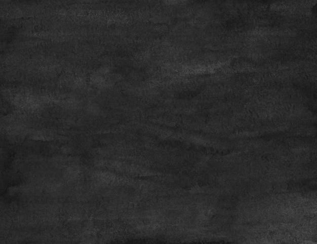 Schwarze hintergrundbeschaffenheit des aquarellgrunge. dunkle monochrome überlagerung. abstrakte alte aquarellmalerei. flecken auf papier.