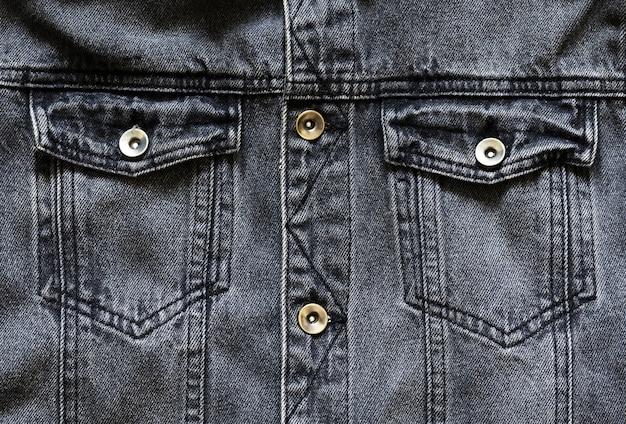 Schwarze jeansjacke