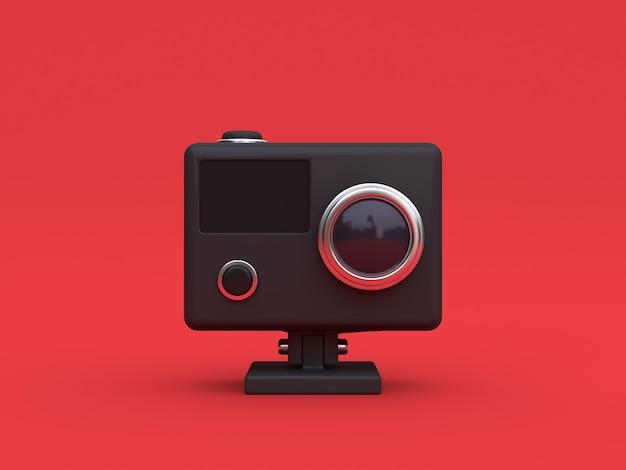Schwarze kamera der aktion 3d