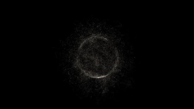 Schwarze minimalistische hintergrundabstraktion eines dunklen toten planeten