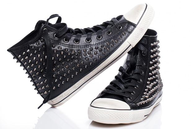 Schwarze mode gumshoes