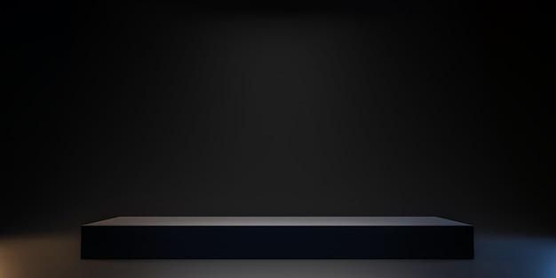 Schwarze plattform zum anzeigen des produkts