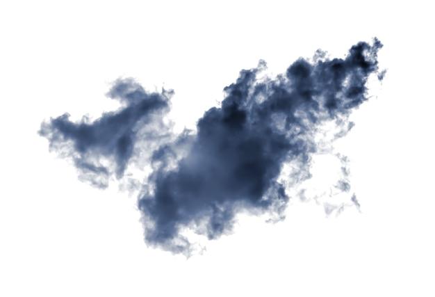Schwarze rauchwolken über weiß