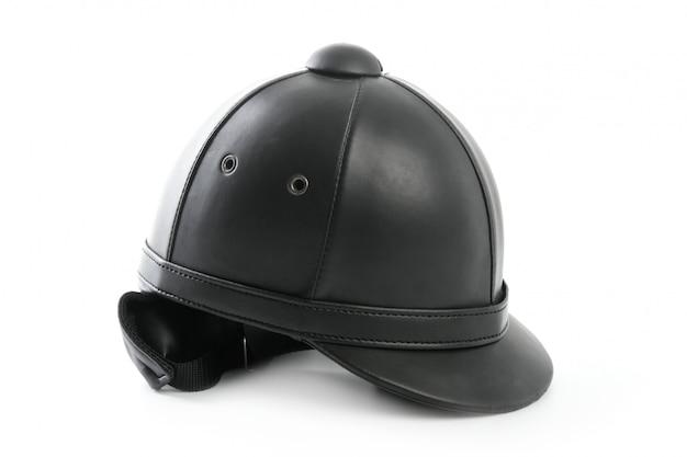 Schwarze reitmütze für reiter