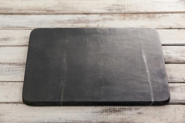 Schwarze schieferplatte