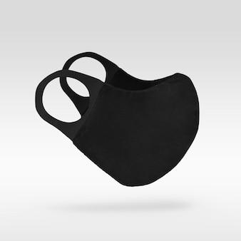 Schwarze schutzmaske aus stoff