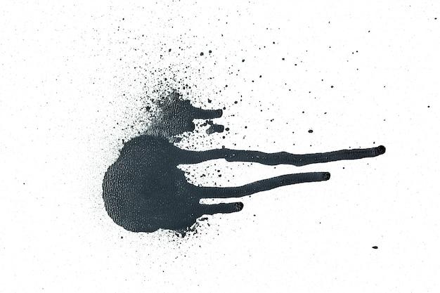 Schwarze sprühfarbe