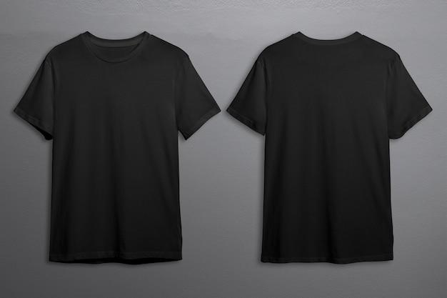 Schwarze t-shirts mit textfreiraum