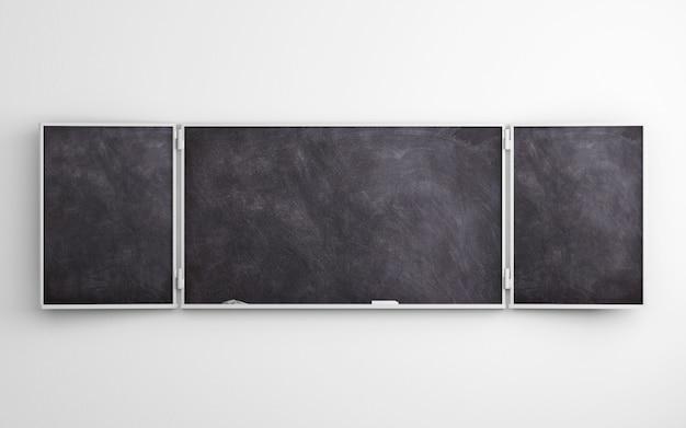 Schwarze tafel auf weißem hintergrund