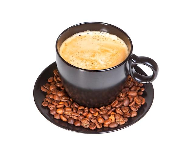 Schwarze tasse kaffee
