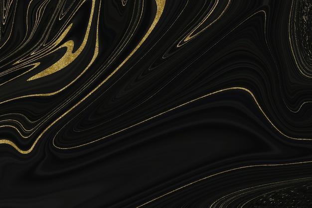 Schwarze und goldene marmorstruktur