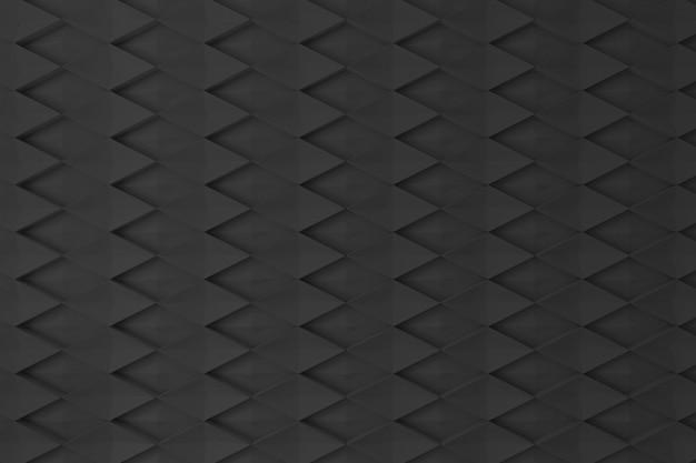 Schwarze wand der diamantform 3d für hintergrund, hintergrund oder tapete