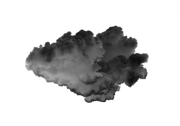 Schwarze wolken an einer weißen wand