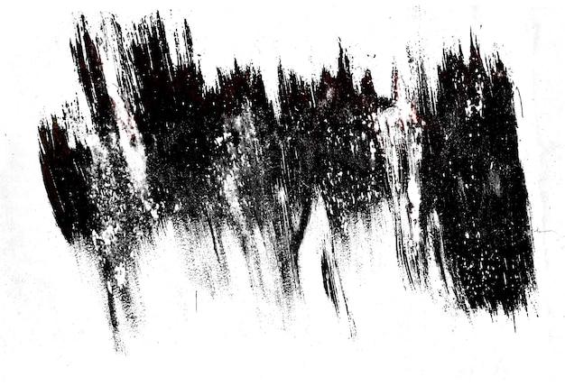 Schwarzer abstrakter fleck auf weißem hintergrund