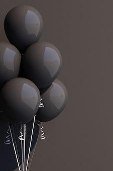 Schwarzer ballon auf schwarz