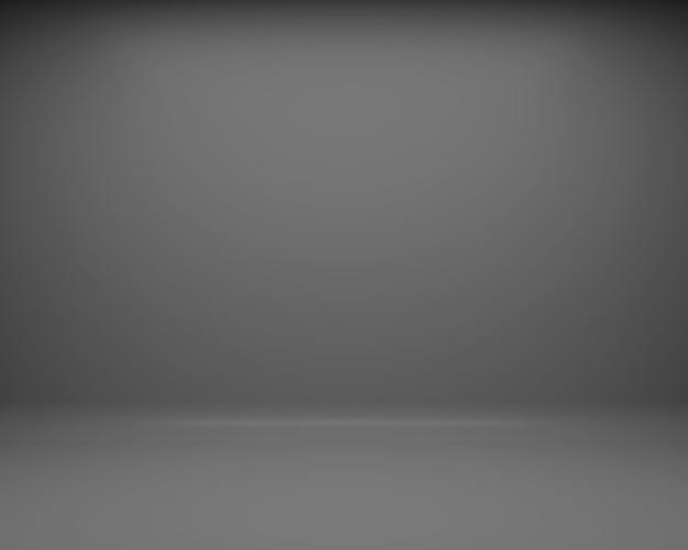 Schwarzer boden und wand hintergrund. 3d-rendering