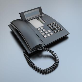 Schwarzer geschäftstelefonhörer