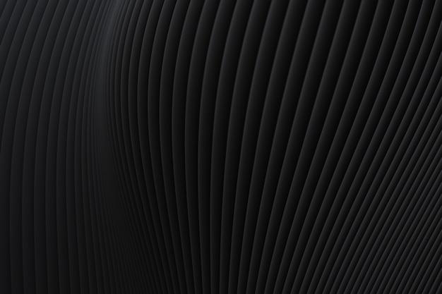 Schwarzer hintergrund der abstrakten wandwellenarchitektur, schwarzer hintergrund für präsentation, portfolio, website