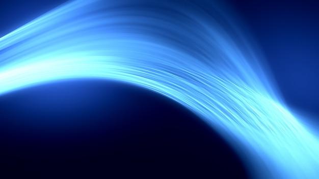 Schwarzer hintergrund des hellen glühen abstrakten effekts. 3d-illustration, 3d-rendering.