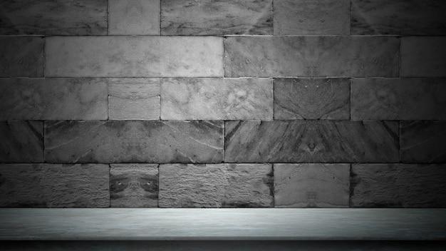Schwarzer hintergrund für produktshow mit eleganter heller, dunkler und grauer abstrakter betonmauer