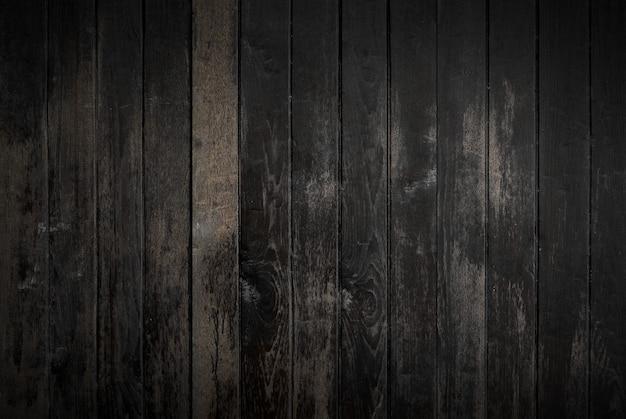 Schwarzer holzbeschaffenheitshintergrund, der vom natürlichen baum kommt. alte holztafeln
