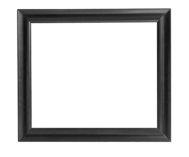 Schwarzer holzrahmen lokalisiert auf weiß