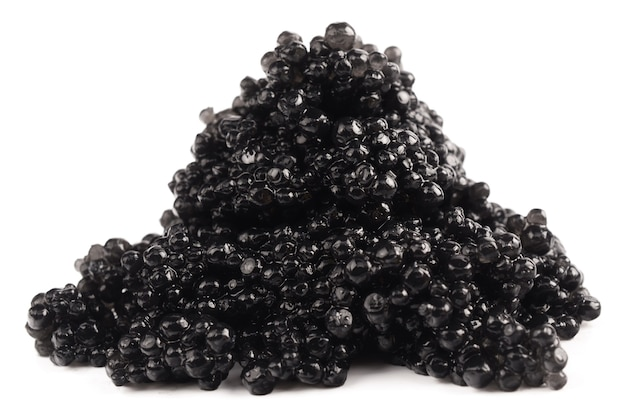 Schwarzer kaviar lokalisiert auf weiß