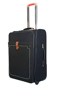 Schwarzer koffer für ausflüge und erholung